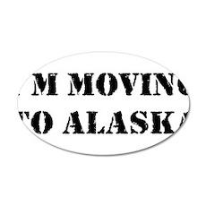Moving to Alaska 38.5 x 24.5 Oval Wall Peel