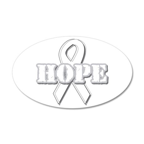 White Hope Ribbon 22x14 Oval Wall Peel
