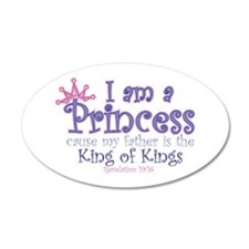 I am a Princess 38.5 x 24.5 Oval Wall Peel