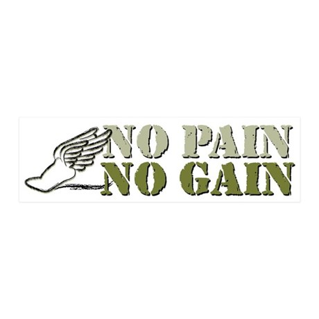 No Pain No Gain Track 21x7 Wall Peel