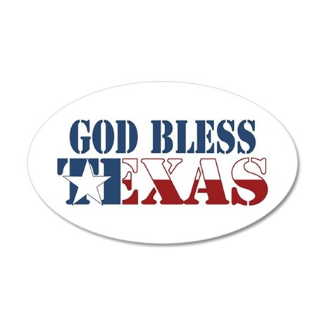 God Bless Texas 22x14 Oval Wall Peel