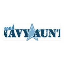 Proud Navy Aunt 42x14 Wall Peel