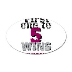 5 Wins 22x14 Oval Wall Peel