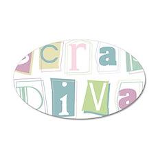 Scrap Diva 38.5 x 24.5 Oval Wall Peel