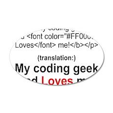Coding Geek Dad 22x14 Oval Wall Peel