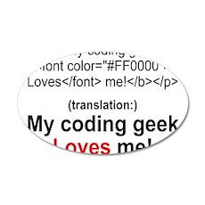 Coding Geek! 38.5 x 24.5 Oval Wall Peel