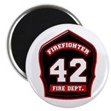 "Unique Fireman 2.25"" Magnet (10 pack)"