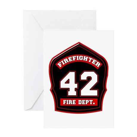 FD Shield 42 Greeting Cards