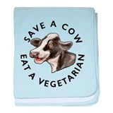 Save A Cow baby blanket