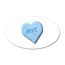 Sweetheart NYC 38.5 x 24.5 Oval Wall Peel