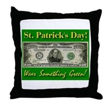 St. Patrick's Day Wear Someth Throw Pillow