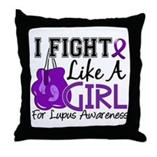 Fight Like A Girl Lupus Throw Pillow
