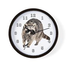Racoon Plain Wall Clock 10inch