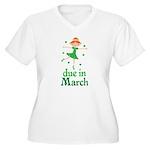 Irish Princess March Due Date Women's Plus Size V-