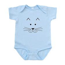 Cartoon Cat Face Infant Bodysuit