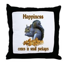 Squirrel Happiness Throw Pillow