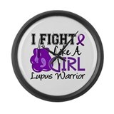 Fight Like A Girl Lupus Large Wall Clock