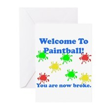 Paintball Broke Greeting Cards (Pk of 10)