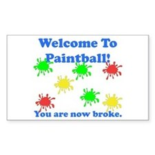 Paintball Broke Decal