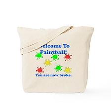 Paintball Broke Tote Bag