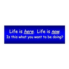 Life is Here and Now 21x7 Wall Peel