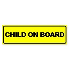Baby on Board Car Stickers Bumper Sticker