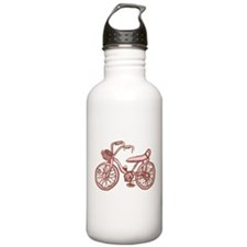 Retro Pink Bike Water Bottle