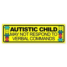 Autism Child Car Decal Bumper Sticker