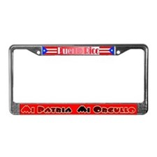 Boricua License Plate Frame