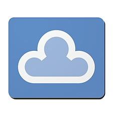 White Cloud Symbol Mousepad