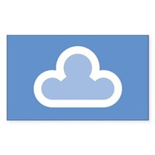 White Cloud Symbol Decal