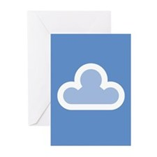 White Cloud Symbol Greeting Cards (Pk of 20)
