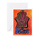 Spiral Hamsa Peace Greeting Cards (Pk of 10)