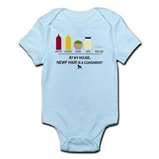 Newf Hair is a Condiment Infant Bodysuit