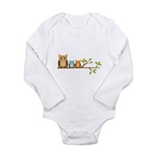 Boy Owl Family Long Sleeve Infant Bodysuit