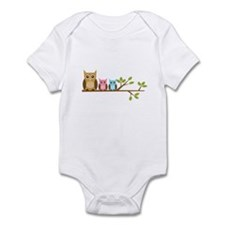 Girl Owl Family Infant Bodysuit
