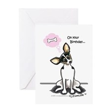 Rat Terrier Sit Pretty Greeting Card