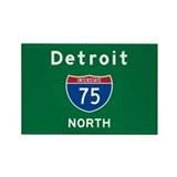 Detroit 75 Rectangle Magnet
