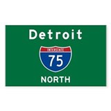 Detroit 75 Decal
