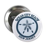 "Ocean City NJ - Sand Dollar Design 2.25"" Button"
