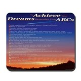 ABC's w/ Shooting Star Photo Background Mousepad