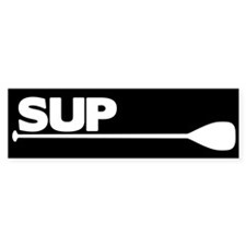 SUP Paddle black Bumper Sticker