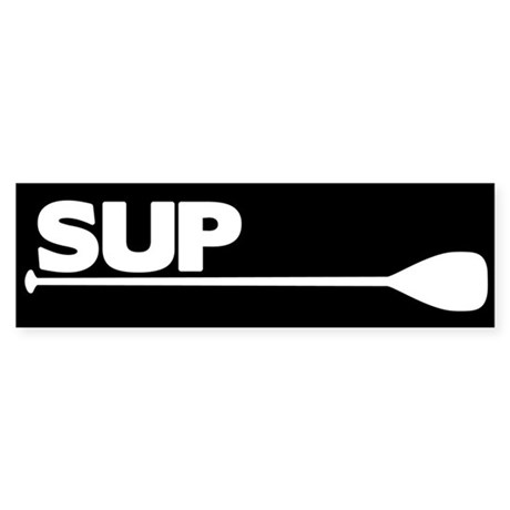 SUP Paddle black Sticker (Bumper)