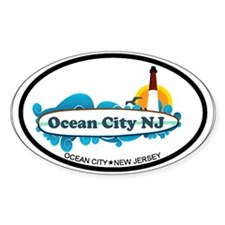 Ocean City NJ - Surf Design. Decal
