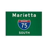 Marietta 75 Rectangle Magnet