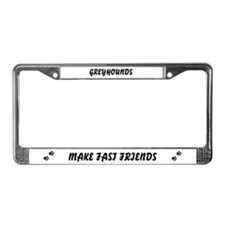 Greyhound (fast friends) License Plate Frame