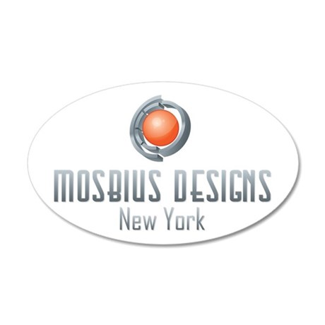 Mosbius Designs 22x14 Oval Wall Peel