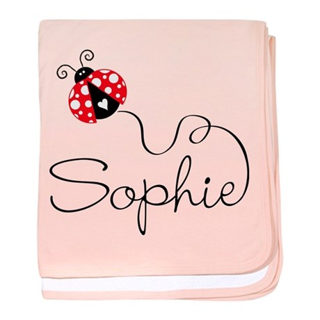 Ladybug Sophie baby blanket