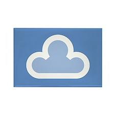 White Cloud Symbol Rectangle Magnet