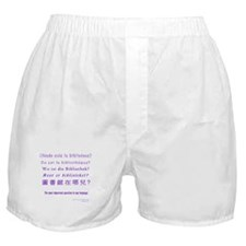 Cute Reference librarian Boxer Shorts